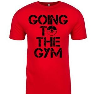 Other - Going to the Gym Pokemon men's red t shirt